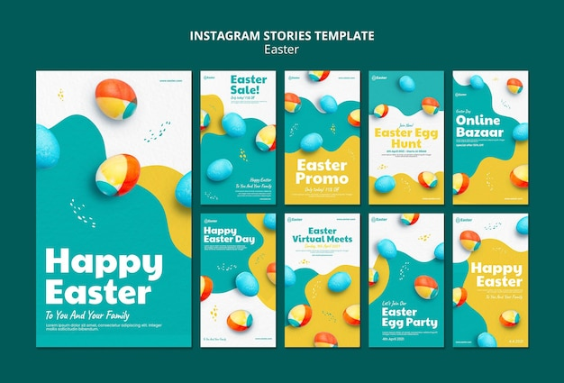 Happy easter day instagram stories