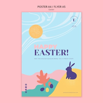 Happy easter day poster