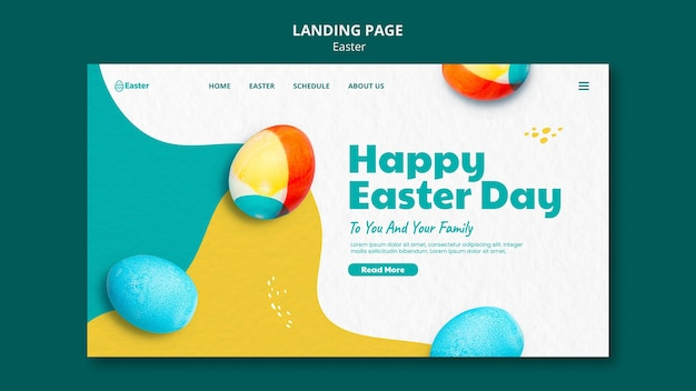 Happy easter day web template