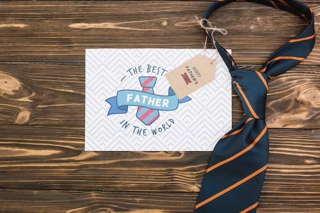 Happy father's day concept mock-up