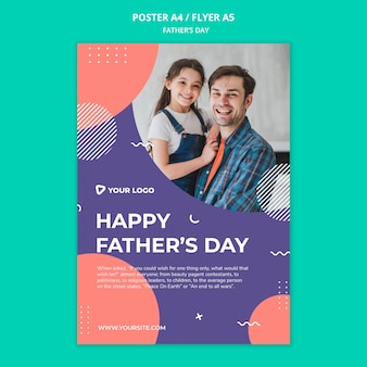 Happy father's day concept poster mock-up