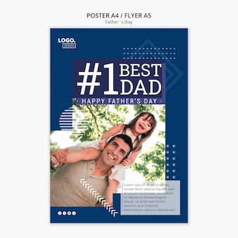 Happy father's day poster concept
