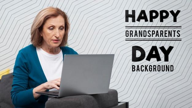 Happy grandparent's day concept