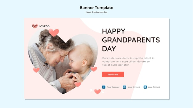 Happy grandparents day banner style