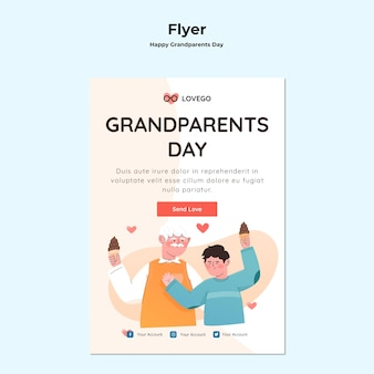 Happy grandparents day flyer theme