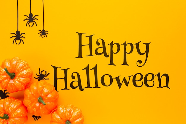 Happy halloween day and autumn view