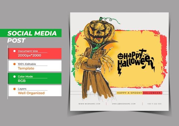 Happy halloween festival digital concept instagram и social me
