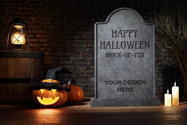 Счастливый хэллоуин макет с украшением
