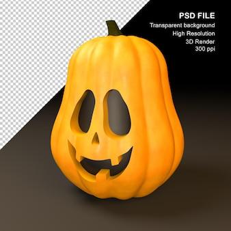 Happy halloween pumpkin 3d render