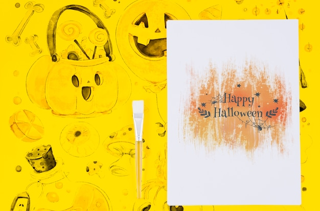 Happy halloween sheet draw and background concept