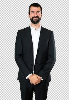 Happy handsome businessman