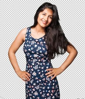Happy latin woman