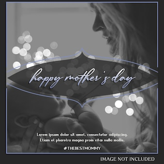 Happy mother's day greeting instagram post template