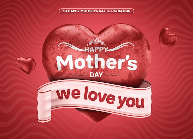 Happy mothers day 3d for celebration