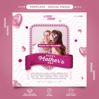 Happy mothers day social media template