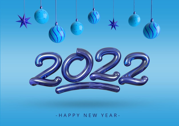 새해 복 많이 받으세요 2021 레터링 3d 렌더링