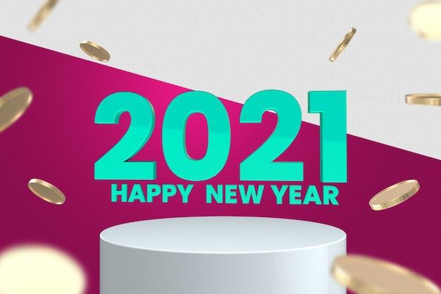 С новым годом 3d визуализация дизайн макета