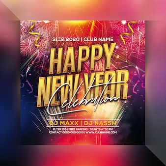 Happy new year celebration party flyer