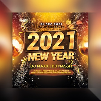 Happy new year celebration party flyer