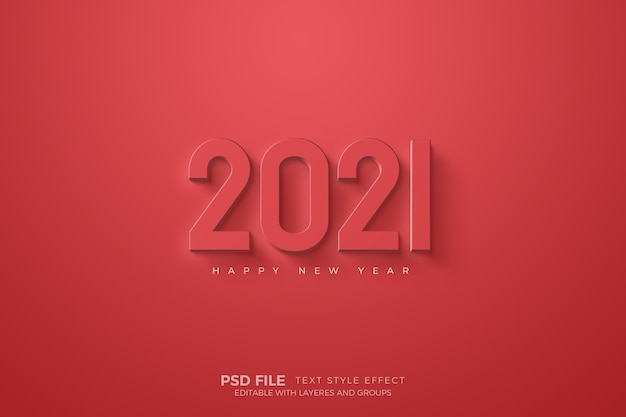 Happy new year with red numbers template