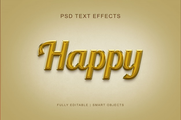 Happy style text effect