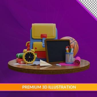 С днем учителя, 3d иллюстрация premium psd
