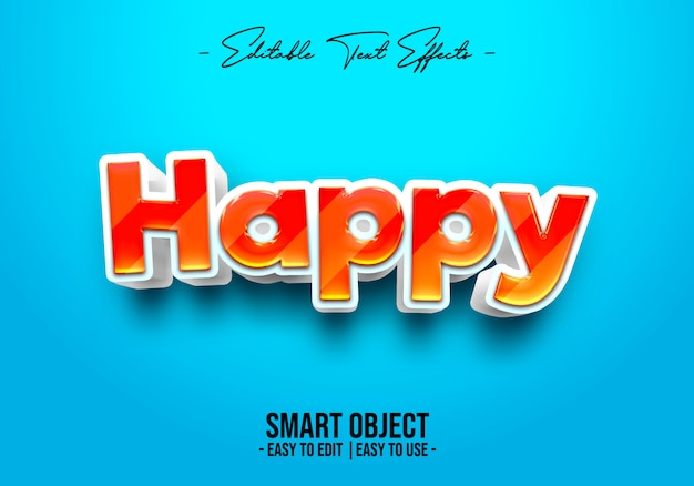 Счастливый текстовый стиль