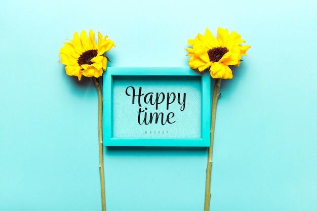 Макет цветов happy time