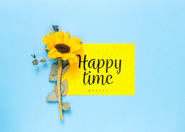 꽃과 함께 행복 한 시간 모형