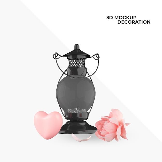 幸せなバレンタインデーの装飾とインテリアデザインのアイテム