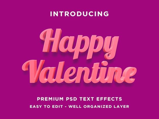 Happy valentine  text effect