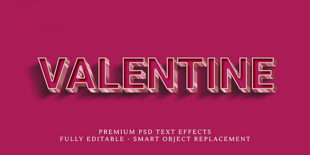Happy valentine text style effect