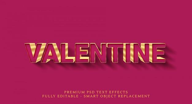 Happy valentine текстовый эффект стиля