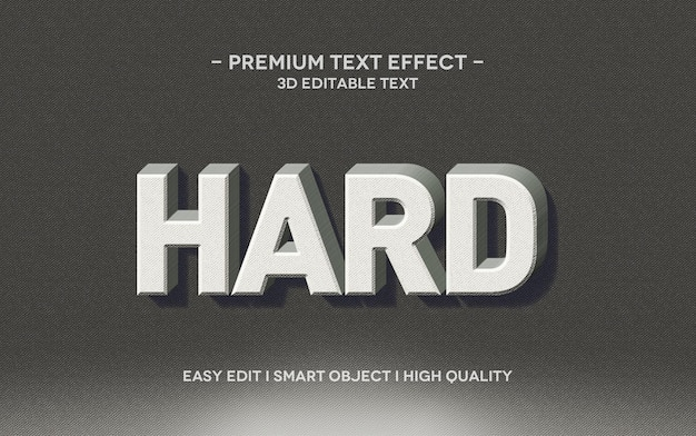 Hard 3d text style effect template