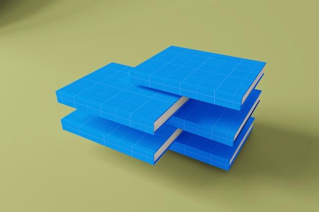 하드 커버 책 모형