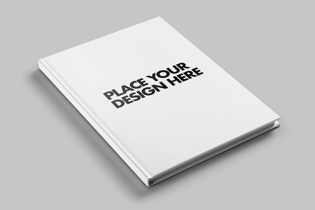 Hard cover magazine book mockup template