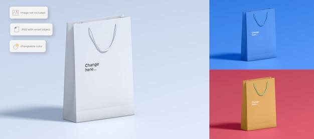 Hard paper bag mockup