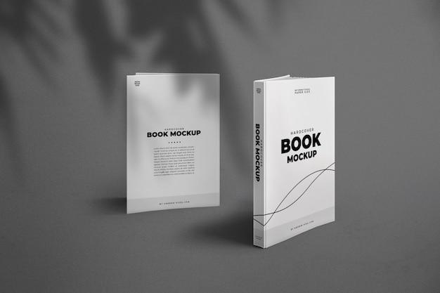 두꺼운 표지의 책 책 앞면과 뒷면 모형