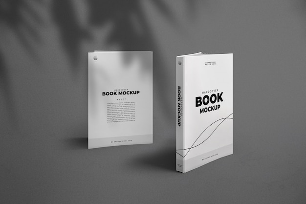 Hardcover book front and back side mockup