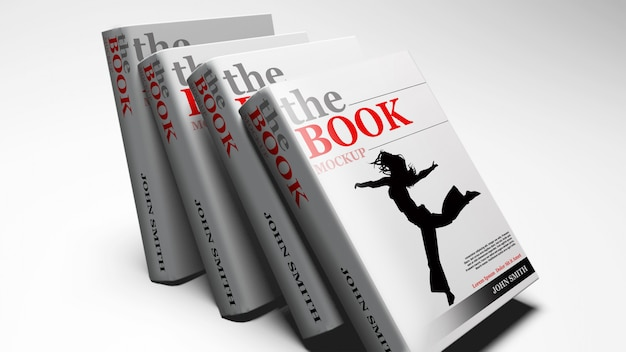 Hardcover book mock up