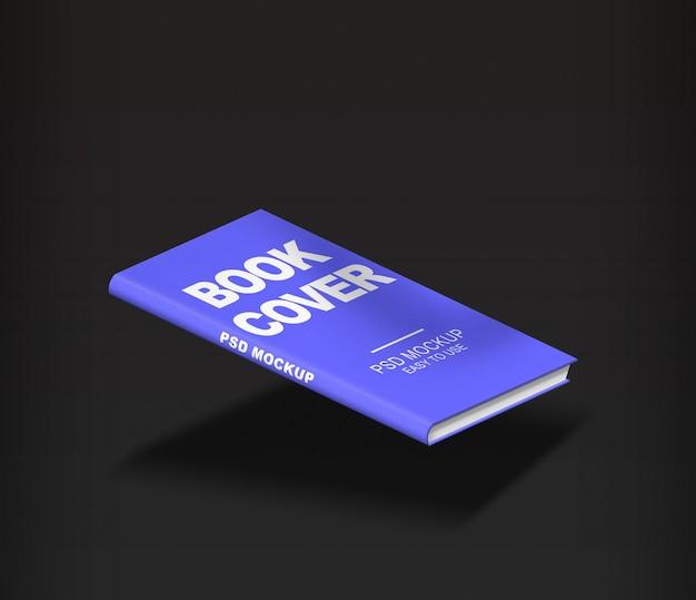 Hardcover book mockup in 3d rendering