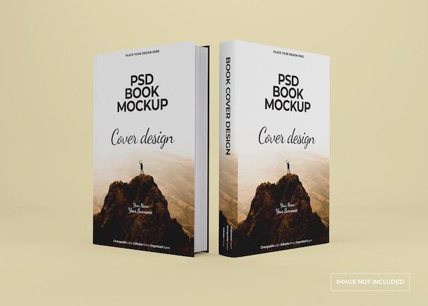 고립 된 하드 커버 책 모형 디자인