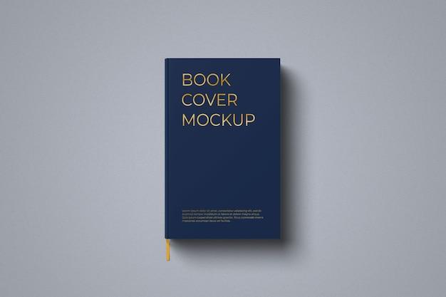 ハードカバーの本のモックアップ上面図