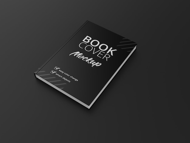 Hardcover book w matte cover mockup