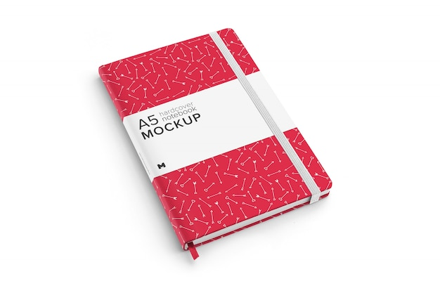 Hardcover notebook mockup