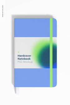 Hardcover notebooks with elastic band mockup, front view