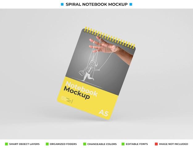 Hardcover spiral notebook mockup design