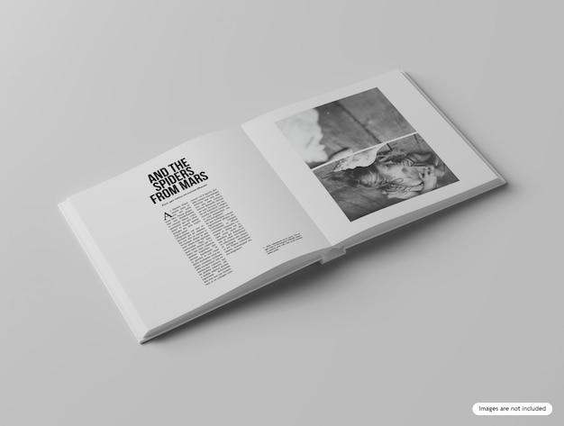 Hardcover square book mockup