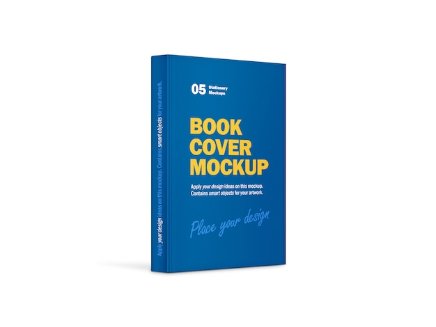 Hardcover vertical book mockup