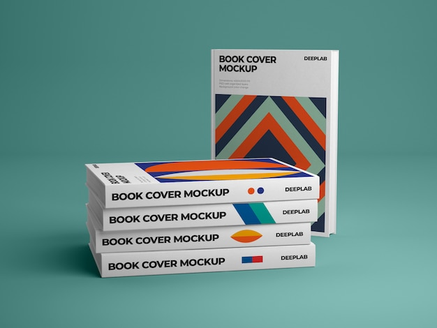 Hardcover vertical book with editable background color mockup